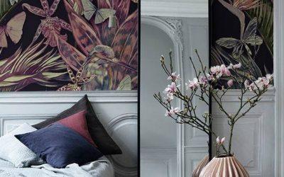 Cum reîmprospătezi un spațiu primăvara asta cu tapet floral și Tropical Call