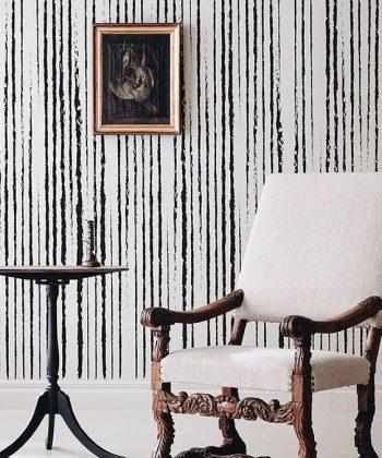tapet personalizat linii vintage stripes