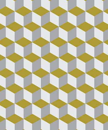 tapet 3D yellow and white cube