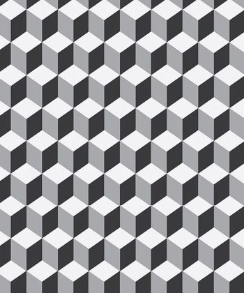 tapet black and white cube
