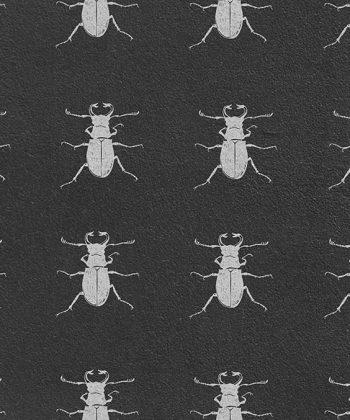 tapet Black Bugs
