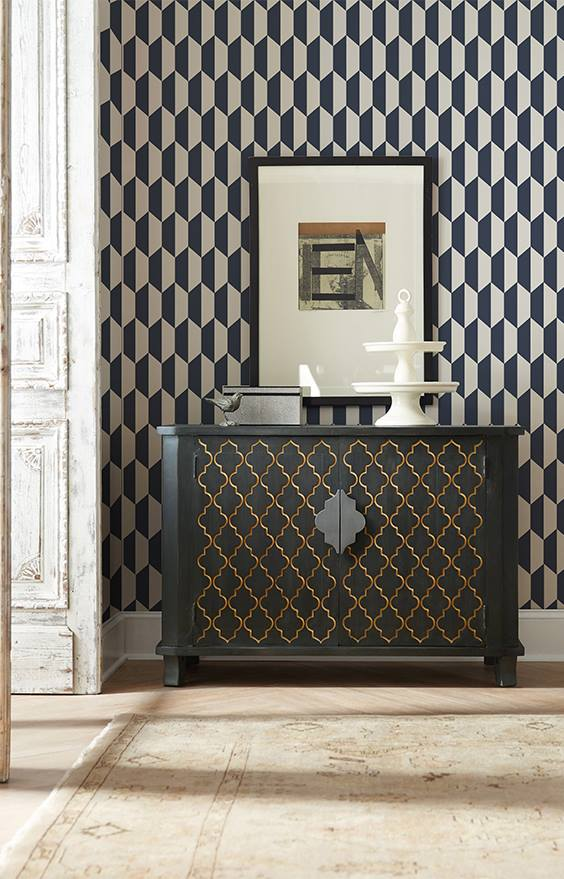 tapet personalizat living Black and White Hex
