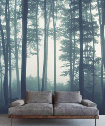 fototapet Foggy Forest