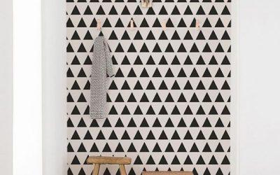 Aer modern în amenajări interioare cu fototapet geometric