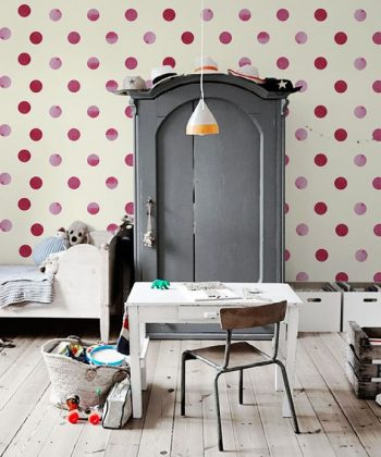 fototapet Red dots kids room