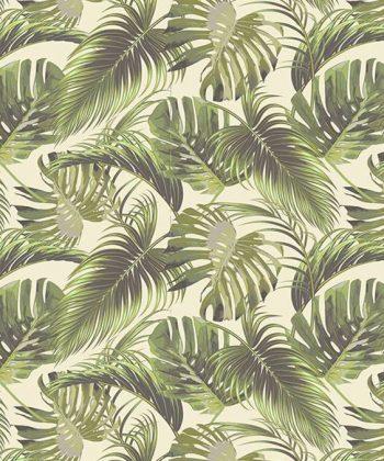 tapet design interior Green Tropical