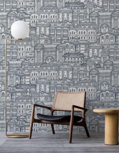 tapet-personalizat-old-city 2 design interior