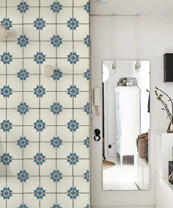 fototapet vintage tiles pattern