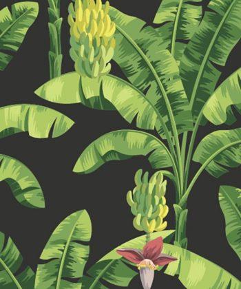 tapet tropical personalizat tapet Banana leaf
