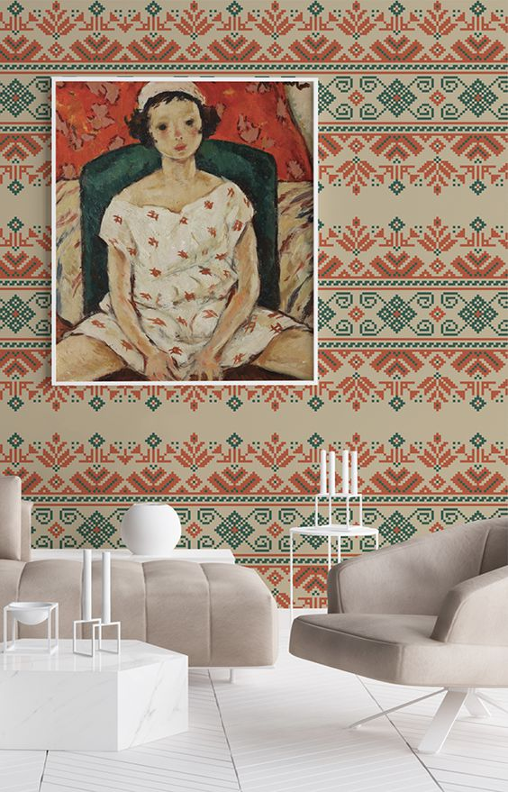 tapet Pastel traditional romanesc