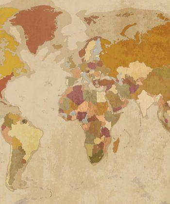 fototapet hartă Vintage map