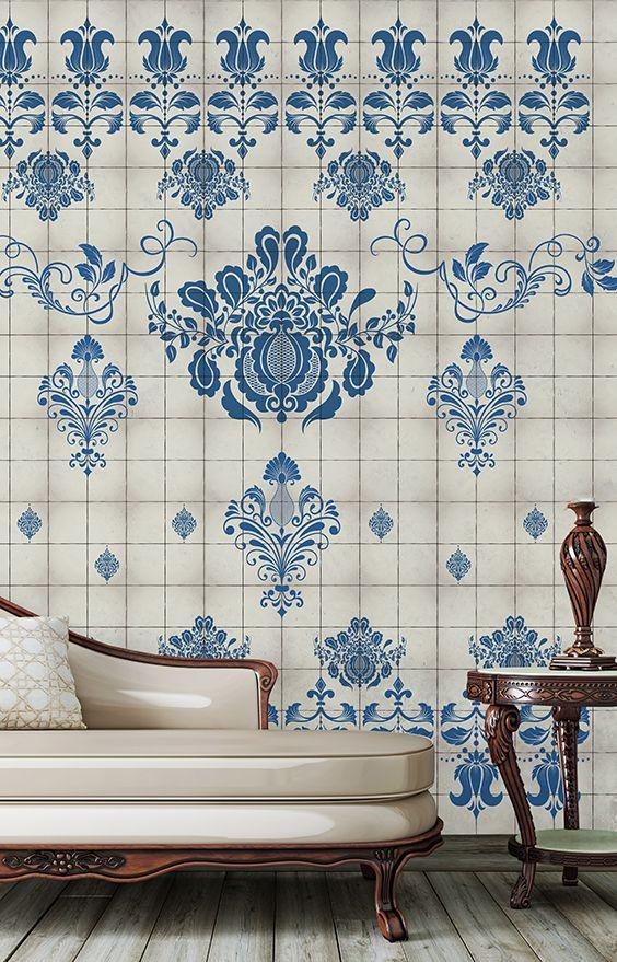 tapet blue style