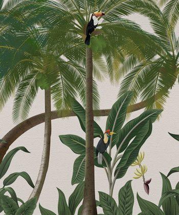 Tapet Birds in the Jungle