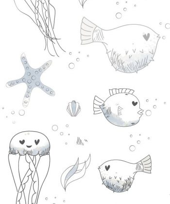 tapet subacvatic friends