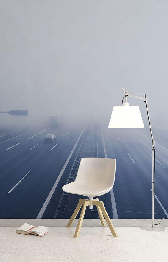 misty highway aesthetic