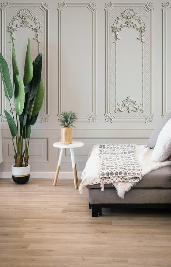 Fine Stucco Stucco tapet living room