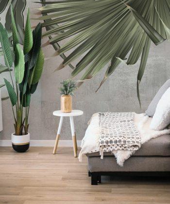 Green Giants Tapet living room frunze tropicale