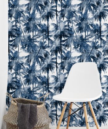Tropical Splash tapet hol blue palms