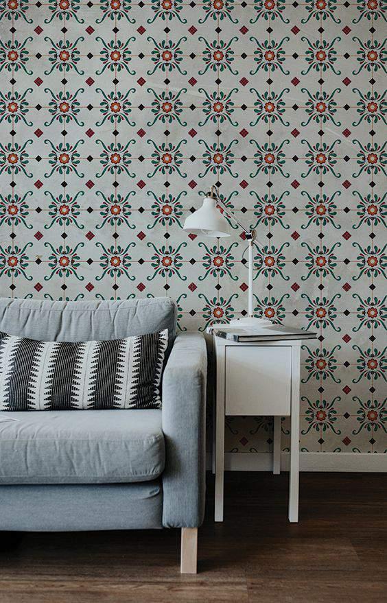 oriental tiles aesthetic