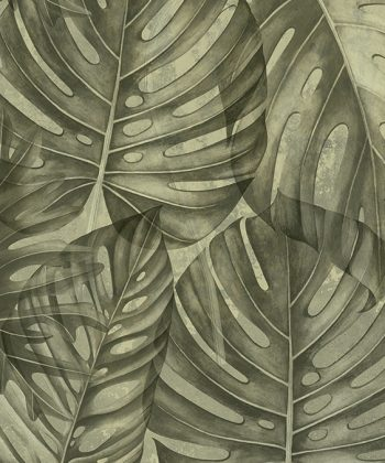 sepia philodendron tapet living model