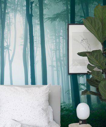 Forest light Tapet dormitor 2 AEDESIGN