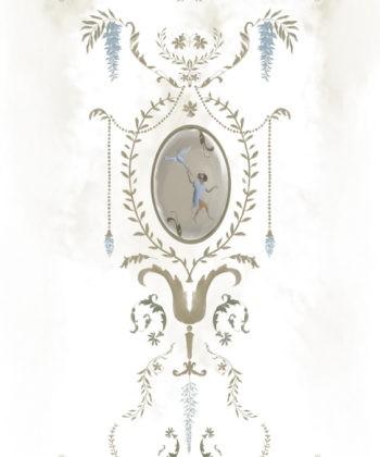 Royal Animals White tapet